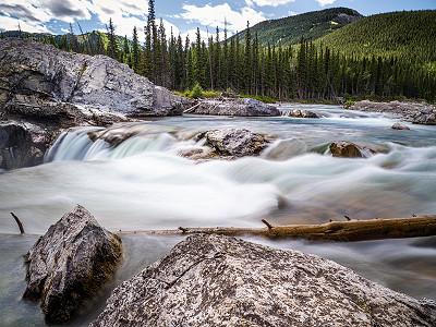 Elbow Falls in Kananaskis Country, Alberta, Canada