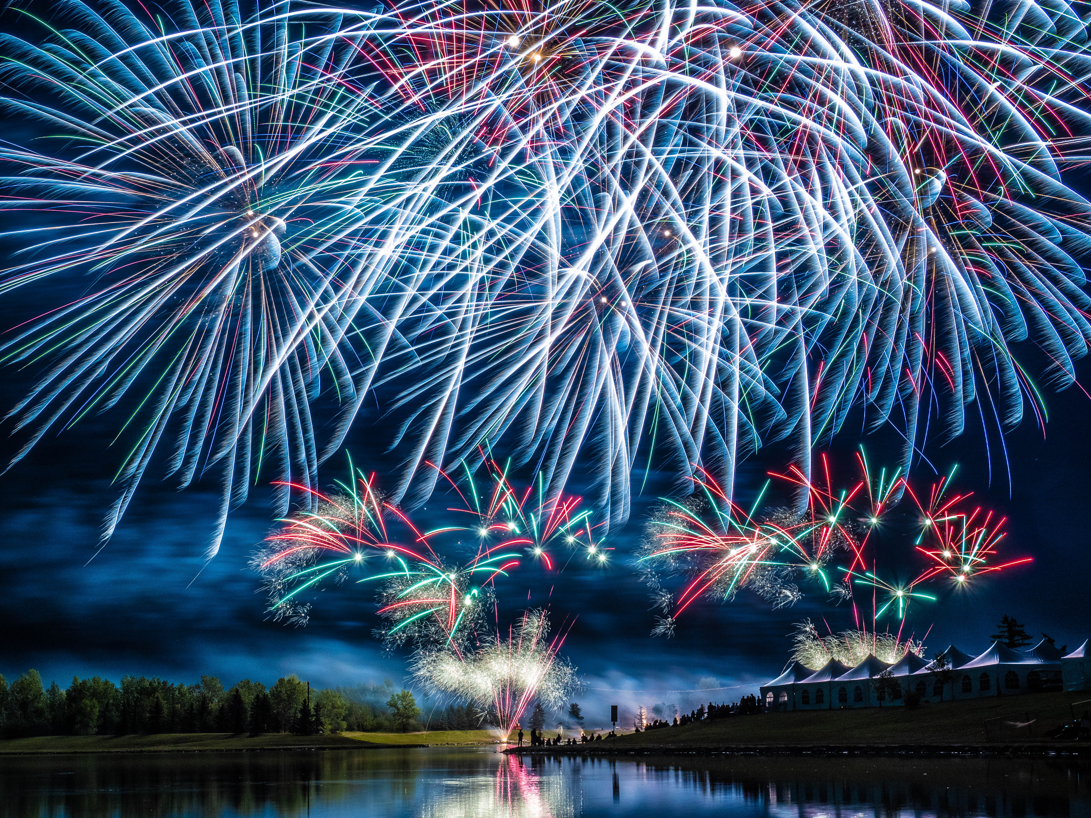 Spain's entry for the Globalfest 2019 Fireworks Competition in Calgary, Alberta, Canada