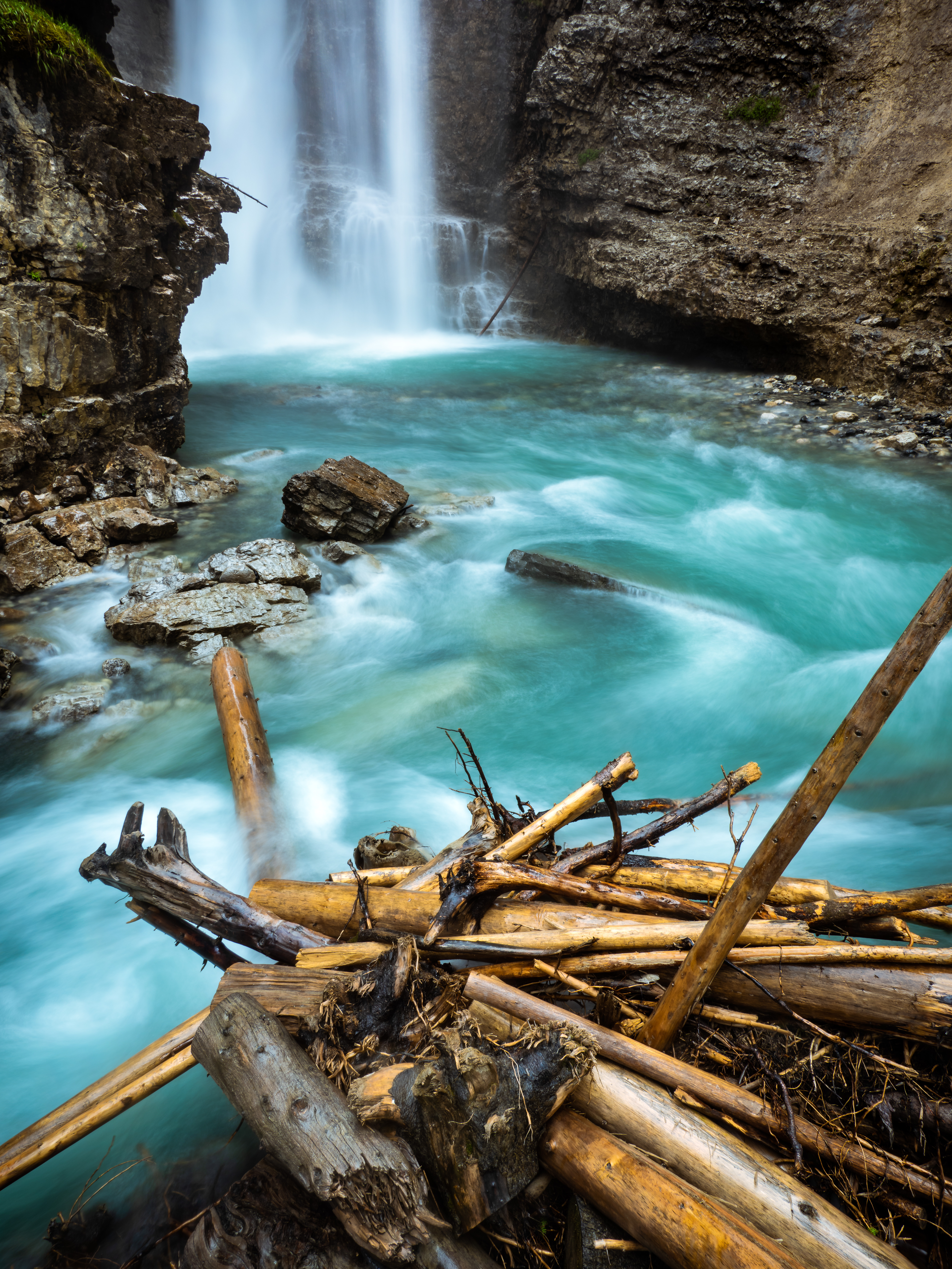 The falls at Johnston Canyon, near Banff, Alberta, Canada